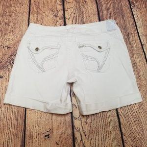 8e26f1f3d51 Ariya White Jean Shorts Plus Size 13 14